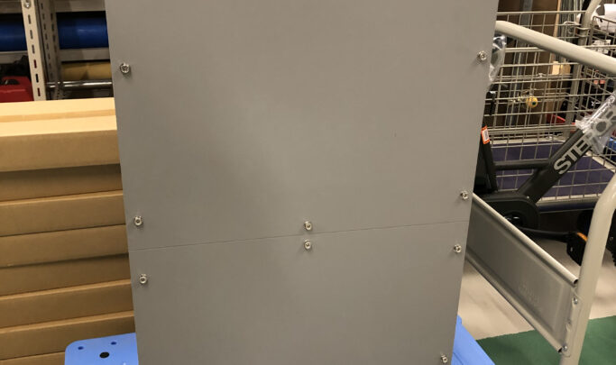 脱落防止チェーン付きプルボックス